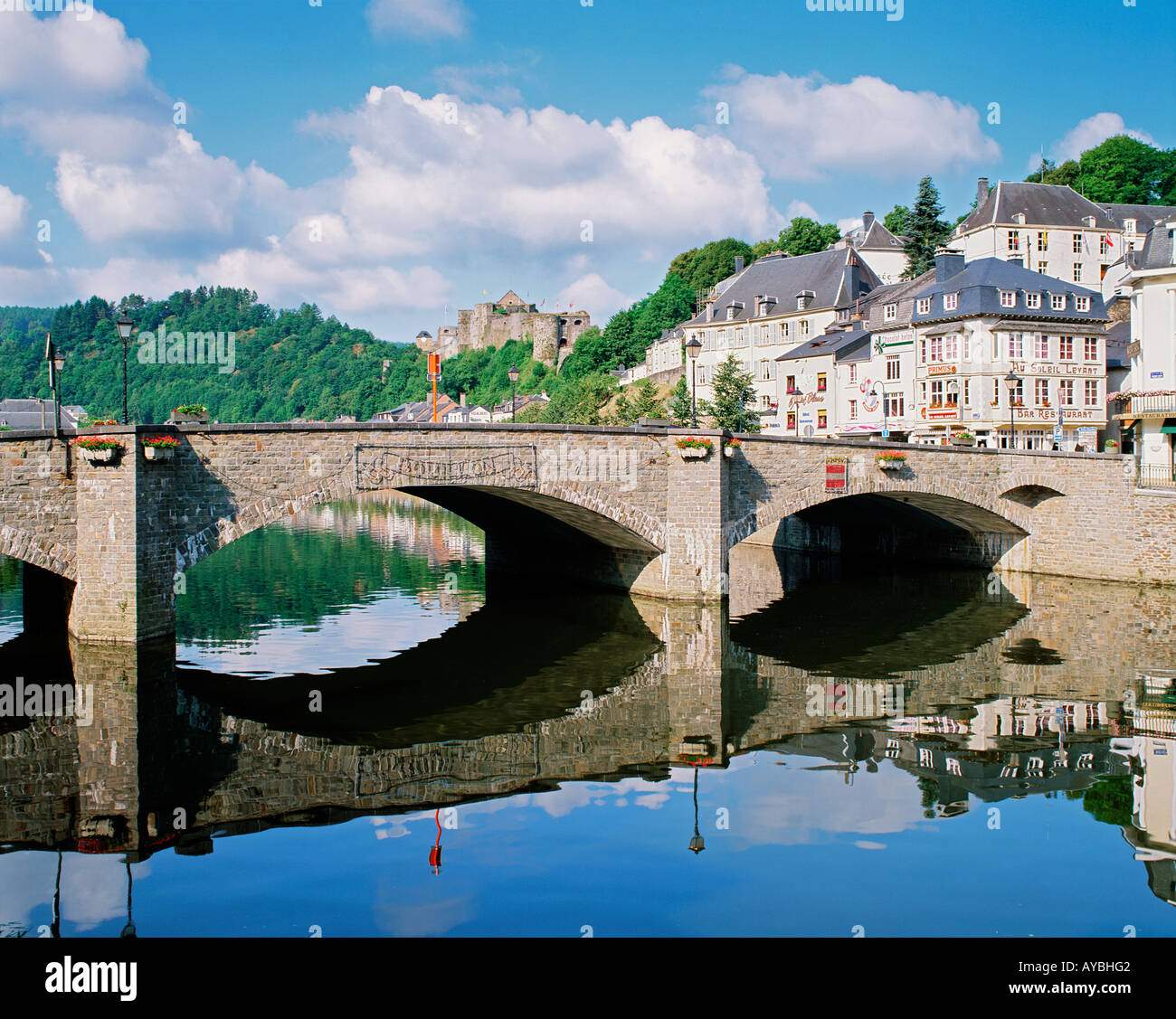 BELGIUM ARDENNES  BOUILLON  RIVER SEMOIS - Stock Image