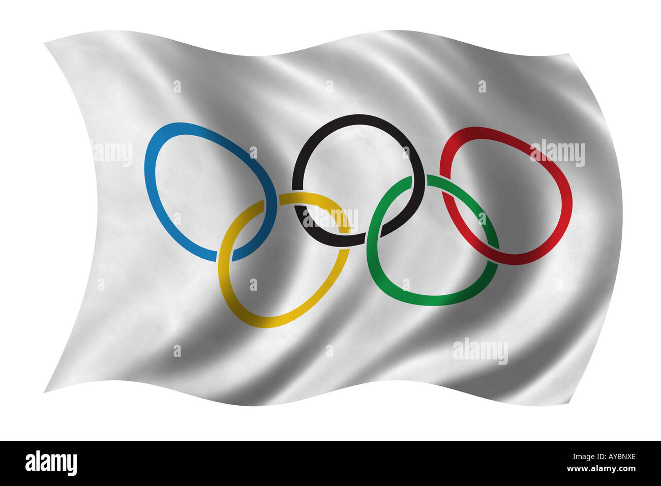 Olympic Flag - Stock Image