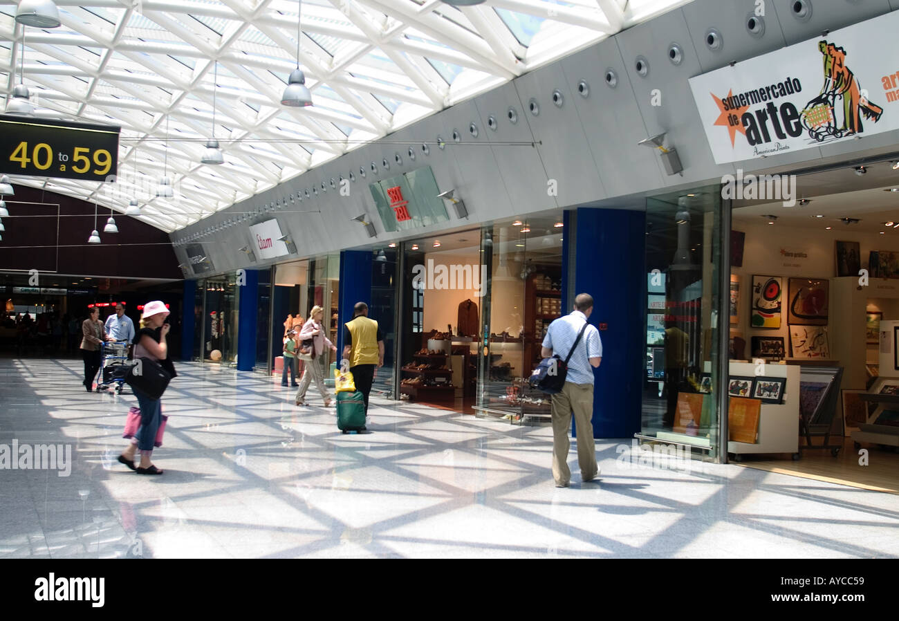 El Prat Airport Duty Free Lounge Barcelona Spain - Stock Image