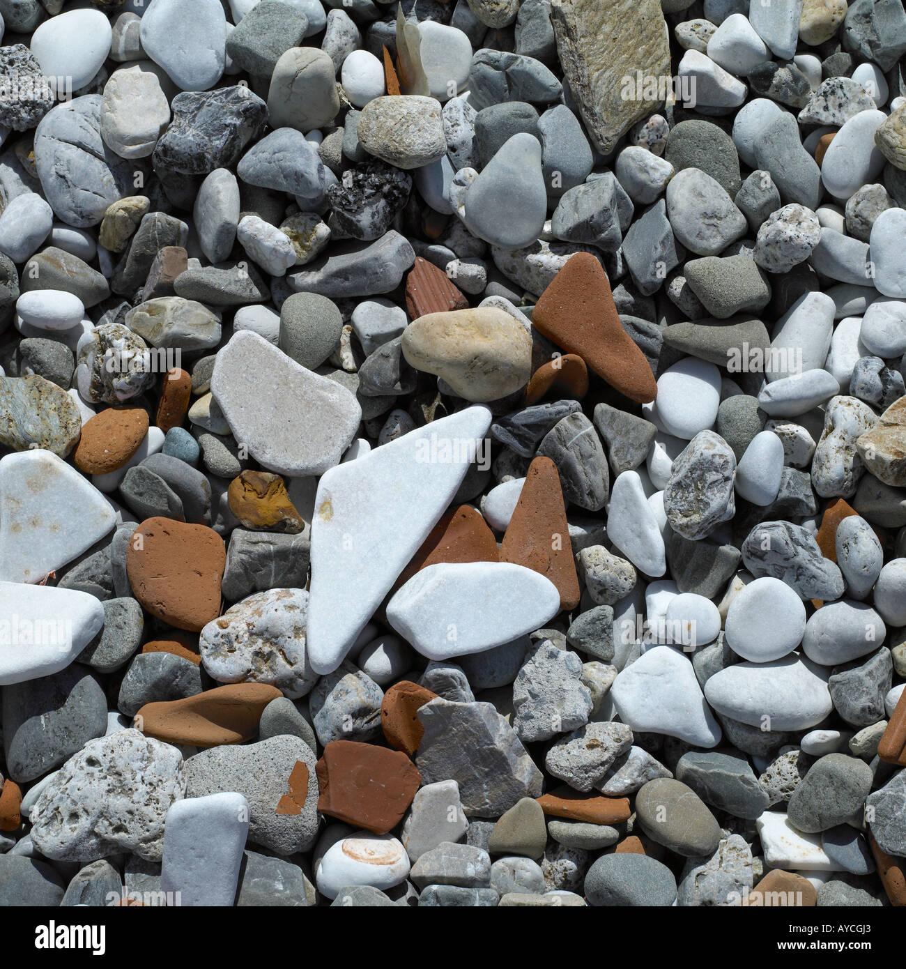 Pebble beach - high end Hasselblad digital capture 48mb - Stock Image