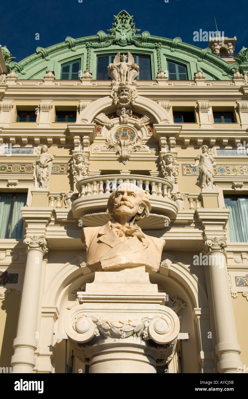Detail of the side entrance to The Casino de Monte Carlo in the Principality of Monaco - Stock Image