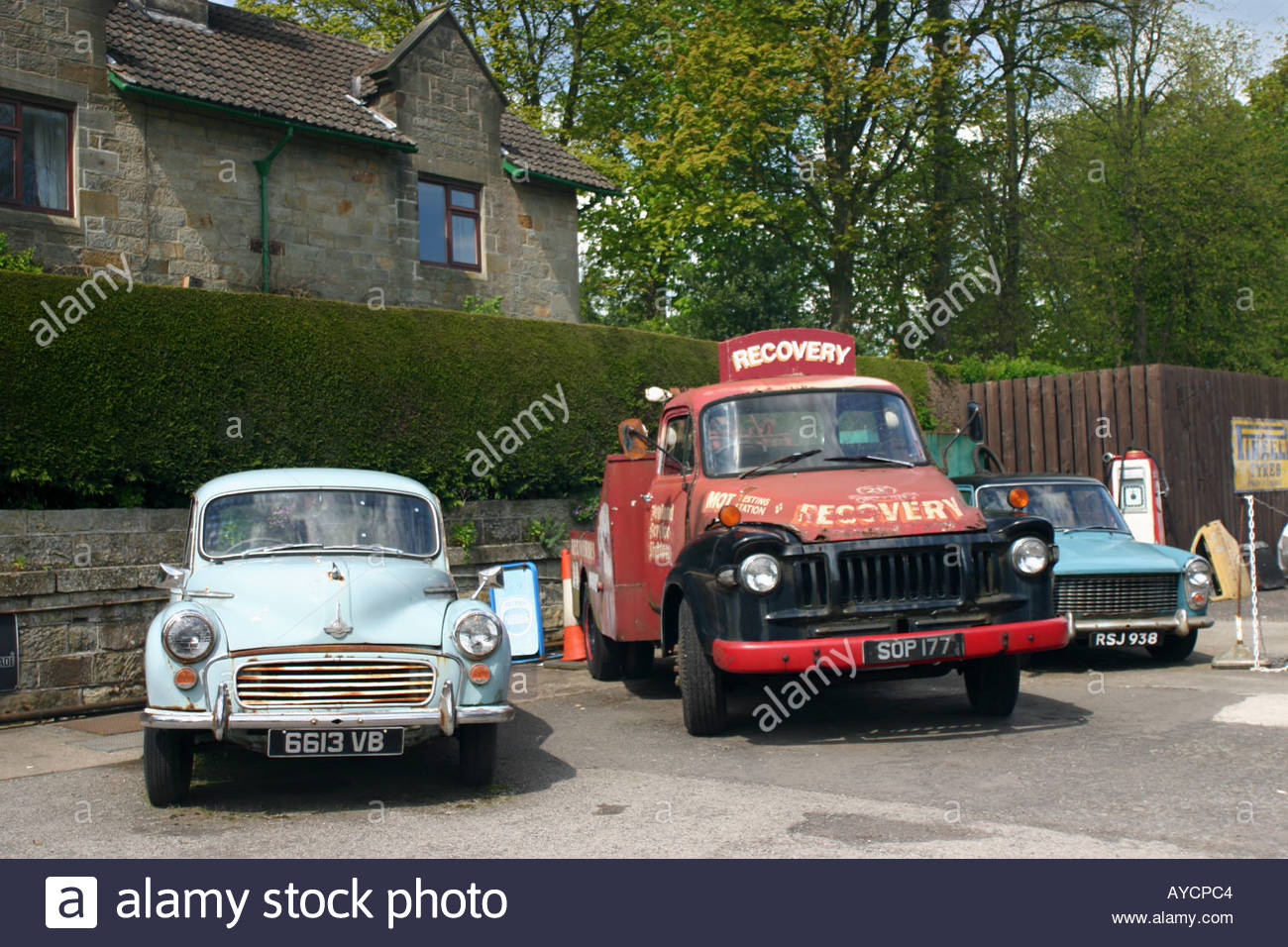 old vehicles, sometimes part of the film set for the TV series Stock ...