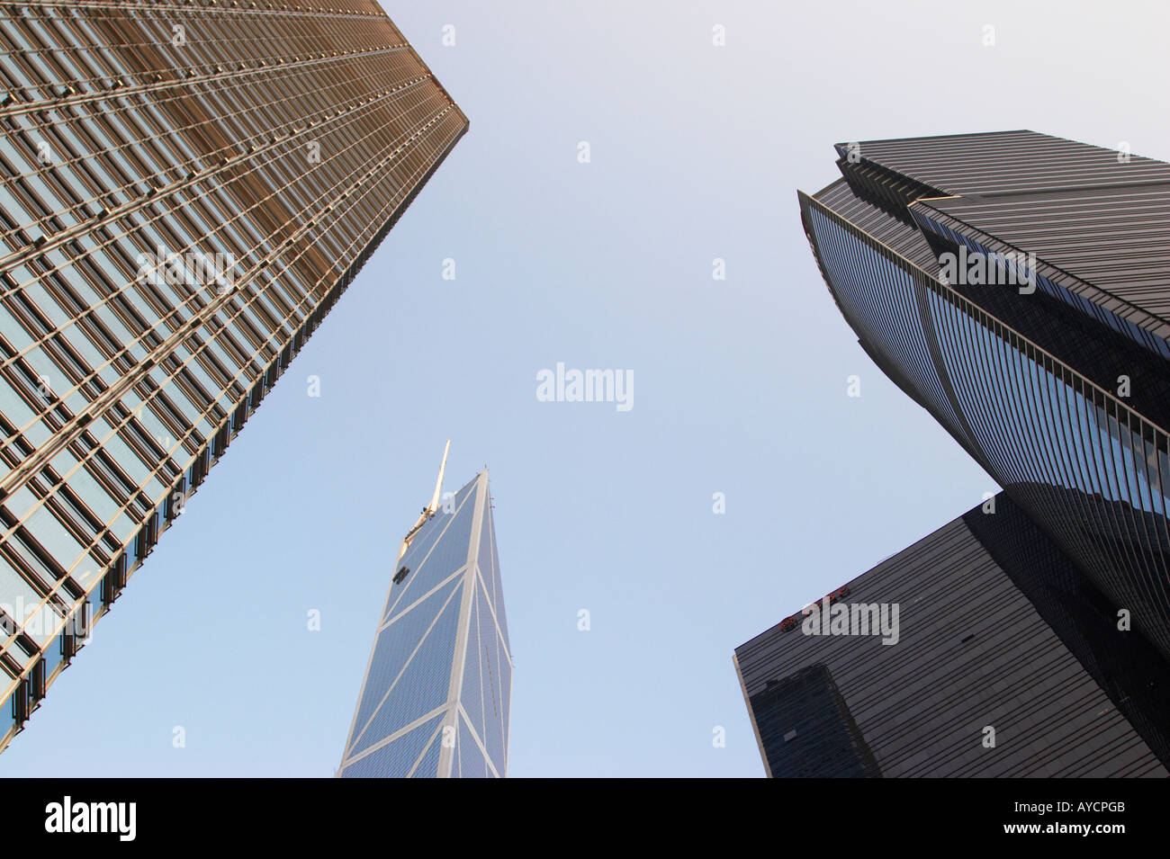 Skyscrapers, Central, Hong Kong - Stock Image