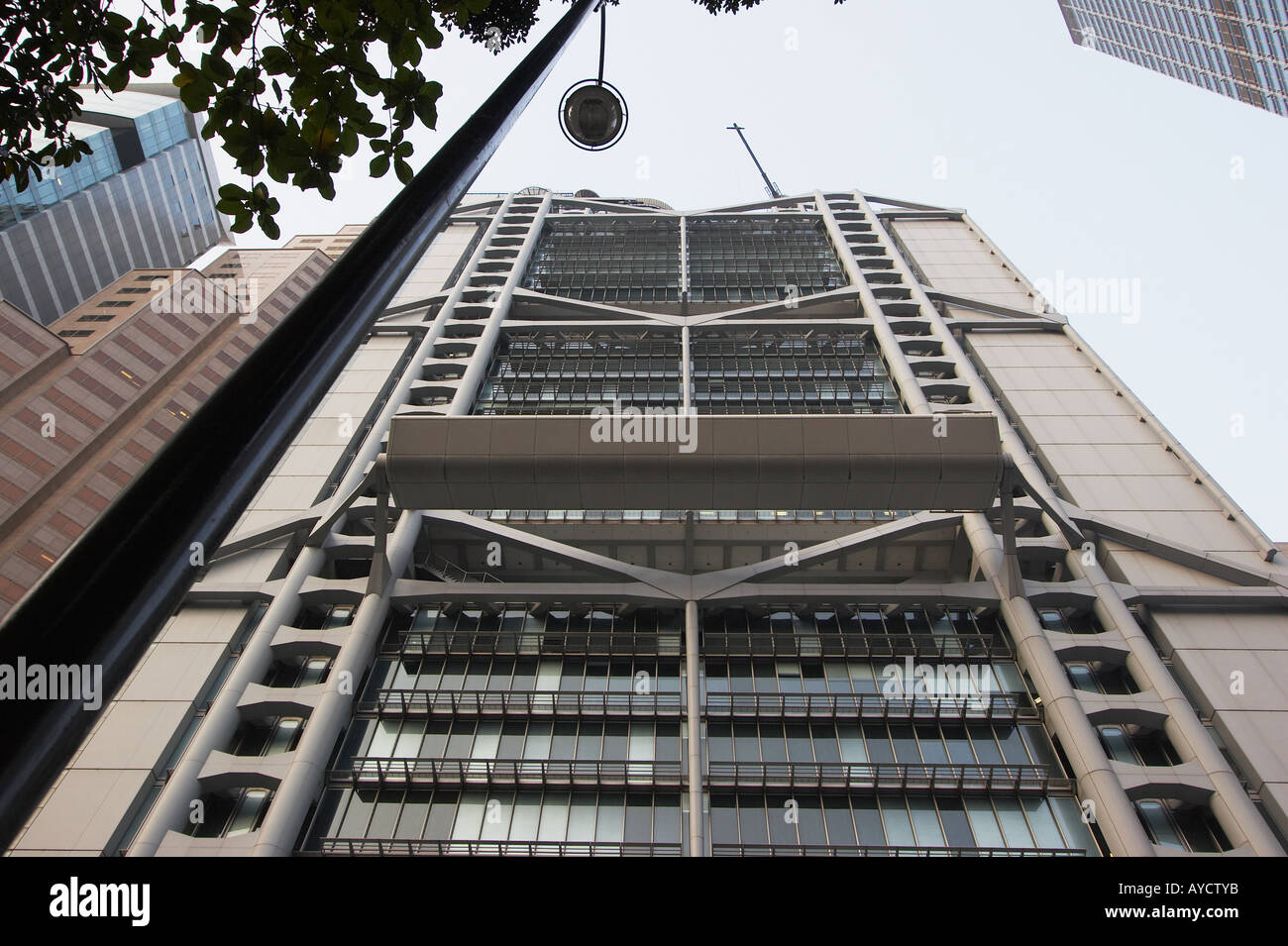 Back View Of HSBC Building, Central - Stock Image