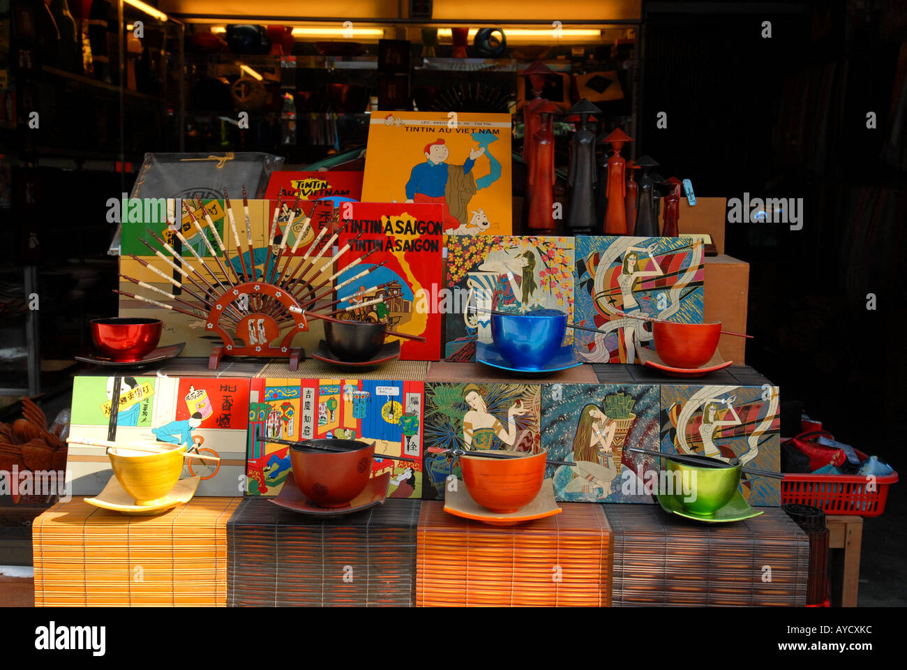 Handicrafts Destined To Foreigners In A Boutique In The Town Of Hoi