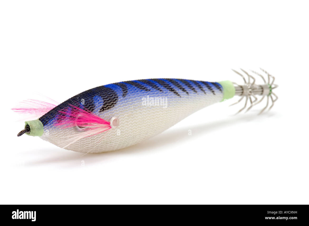 object on white ledger bait - Stock Image