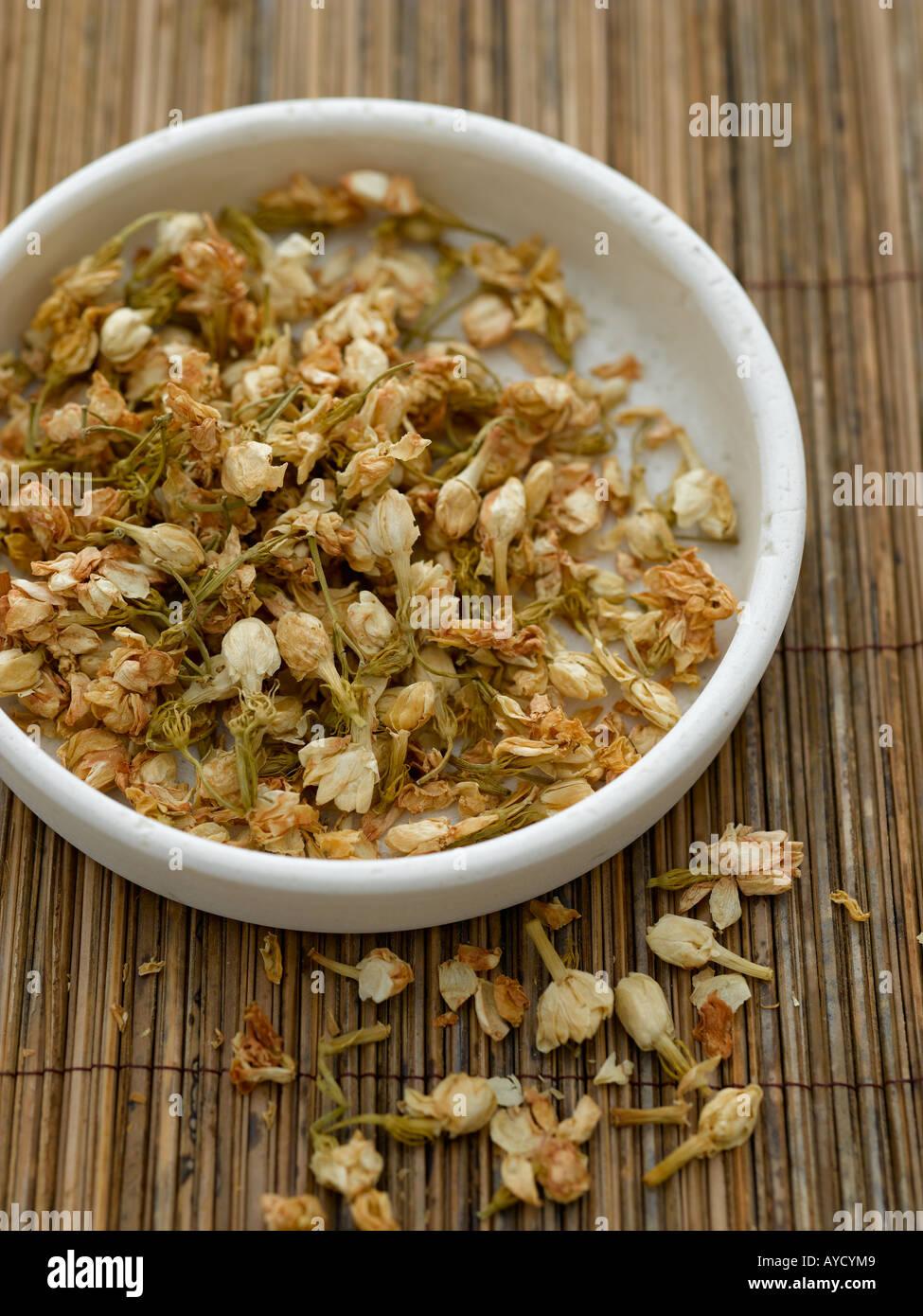 Dried Jasmine Flowers Shot Hasselblad Stock Photos Dried Jasmine
