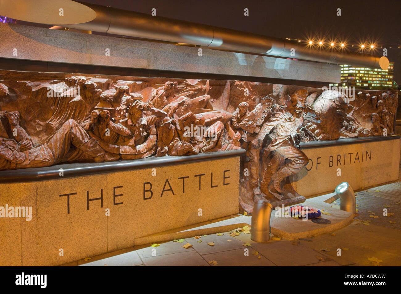 Battle of Britain Memorial Victoria Embankment London UK - Stock Image