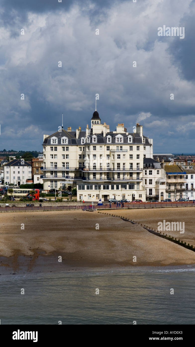 Queens Hotel Marine Parade Eastbourne East Sussex United Kingdom - Stock Image