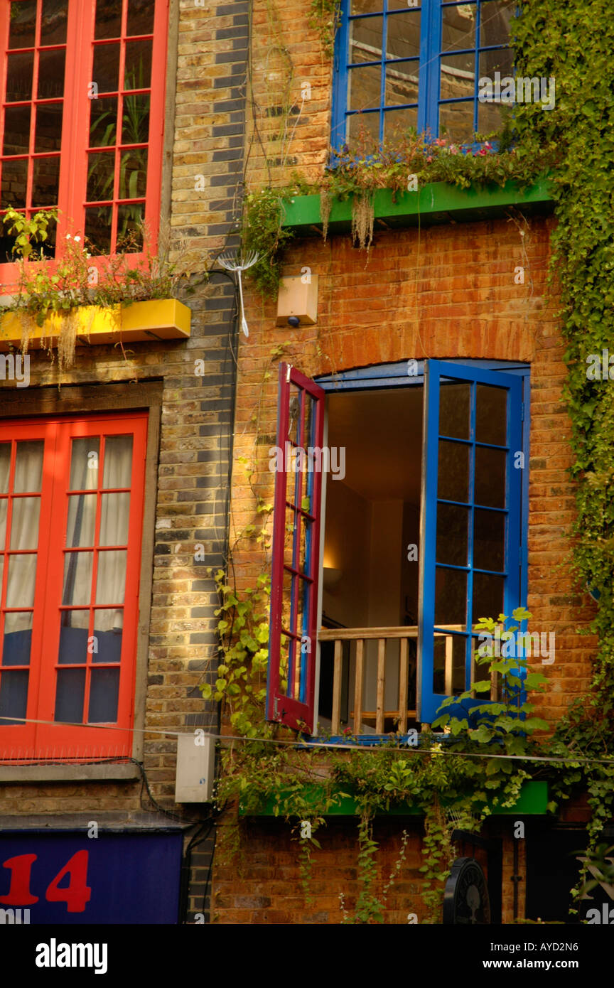 The colourful Neal\'s Yard in Covent Garden London England Stock ...