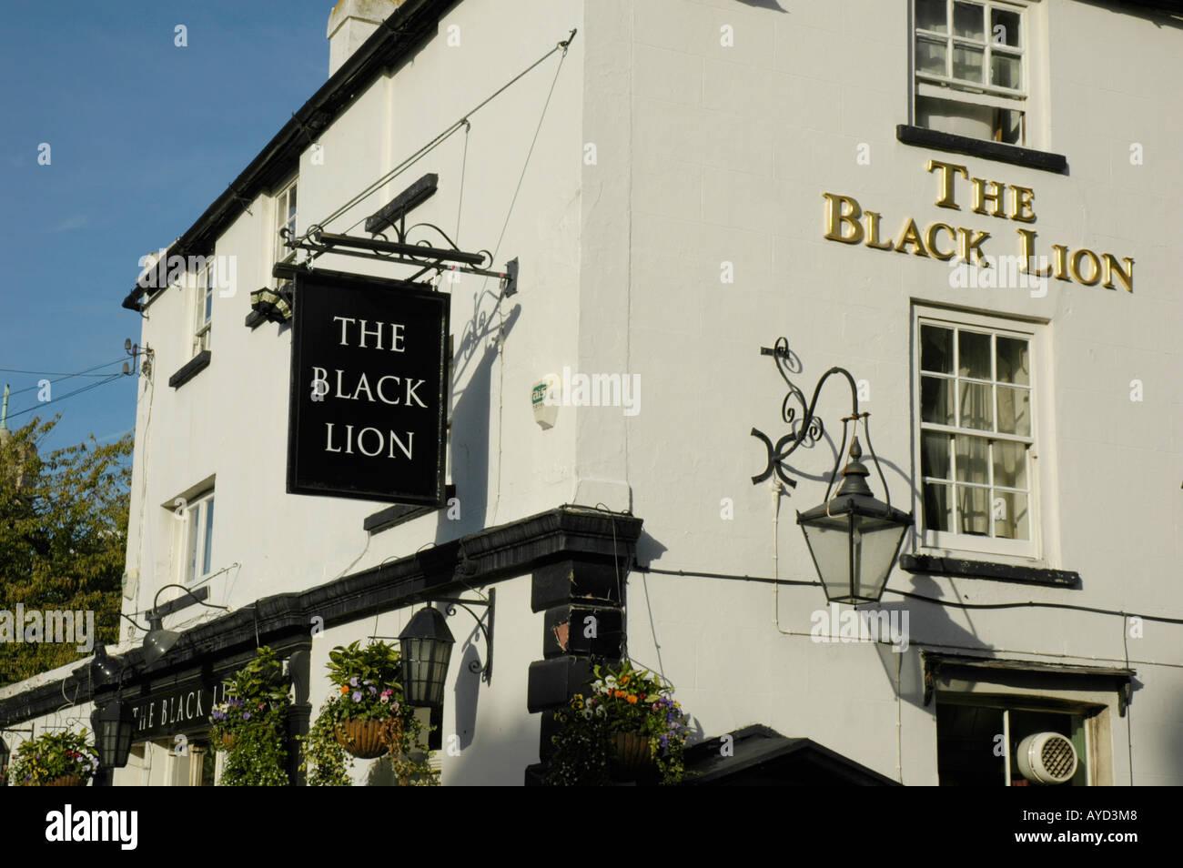 The Black Lion pub in Black Lion Lane Chiswick London England - Stock Image