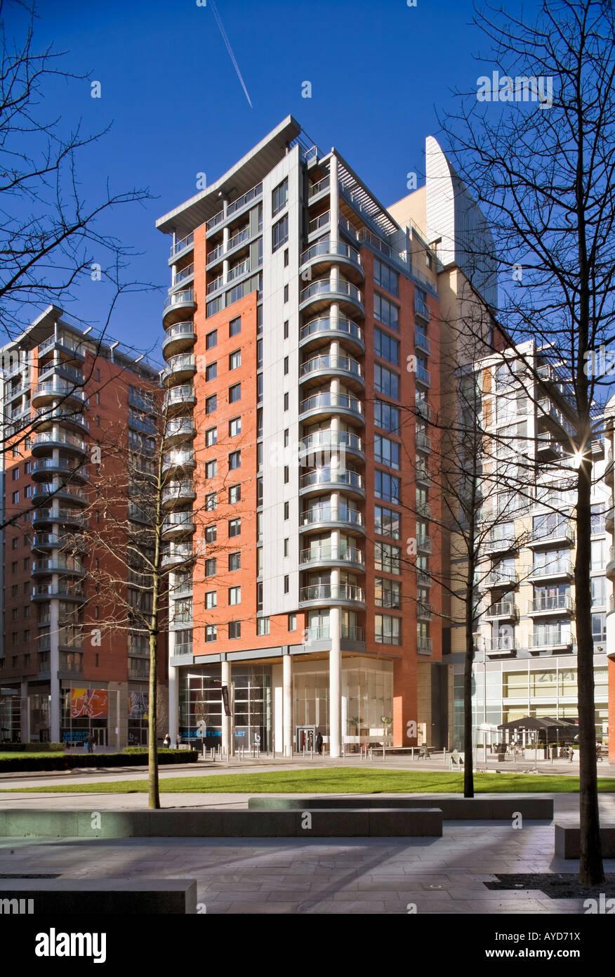 Leftbank Apartments, Spinningfields, Manchester, exterior ...