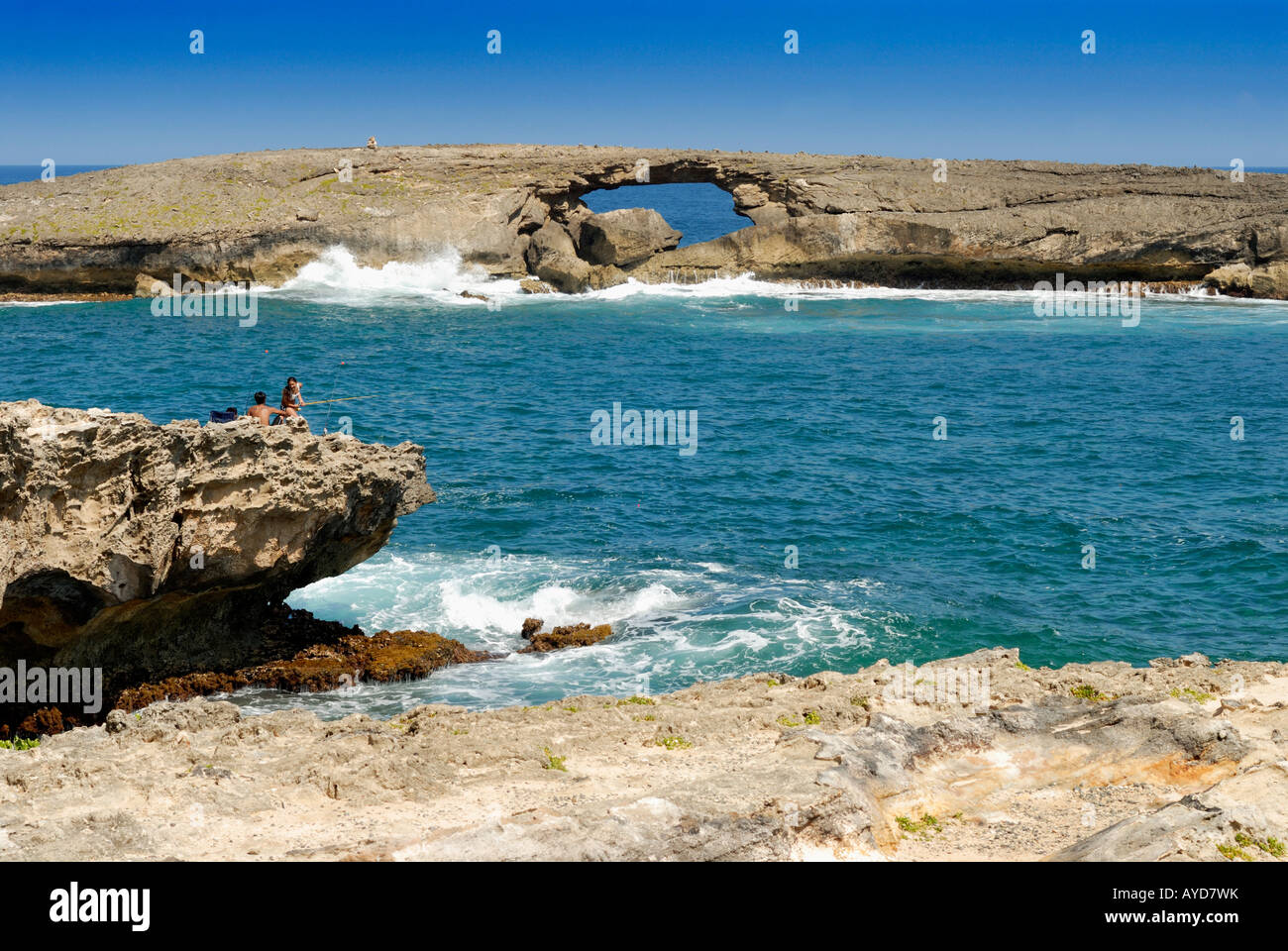 La ie Point This natural arch was created by a tsunami on April fools day 1946 - Stock Image