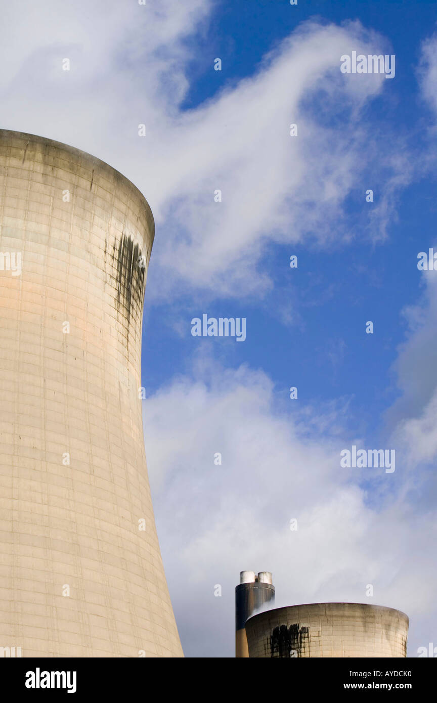 Drax (coal fired) Power station, Selby, Yorkshire, UK. Western Europes single largest producer of greenhouse gases, Stock Photo