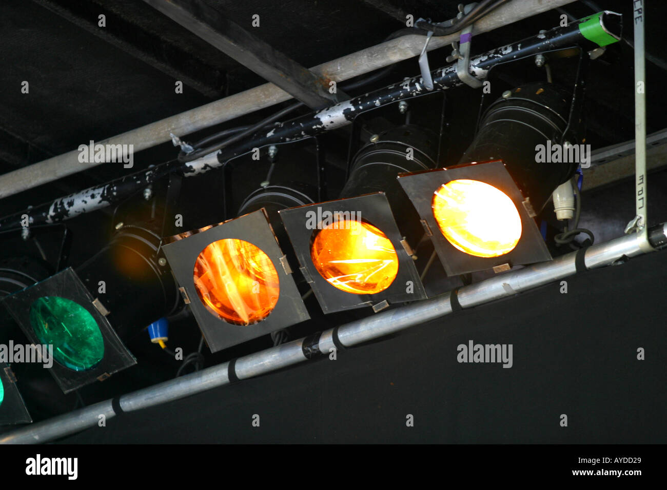Stage spotlights at pop concert - Stock Image