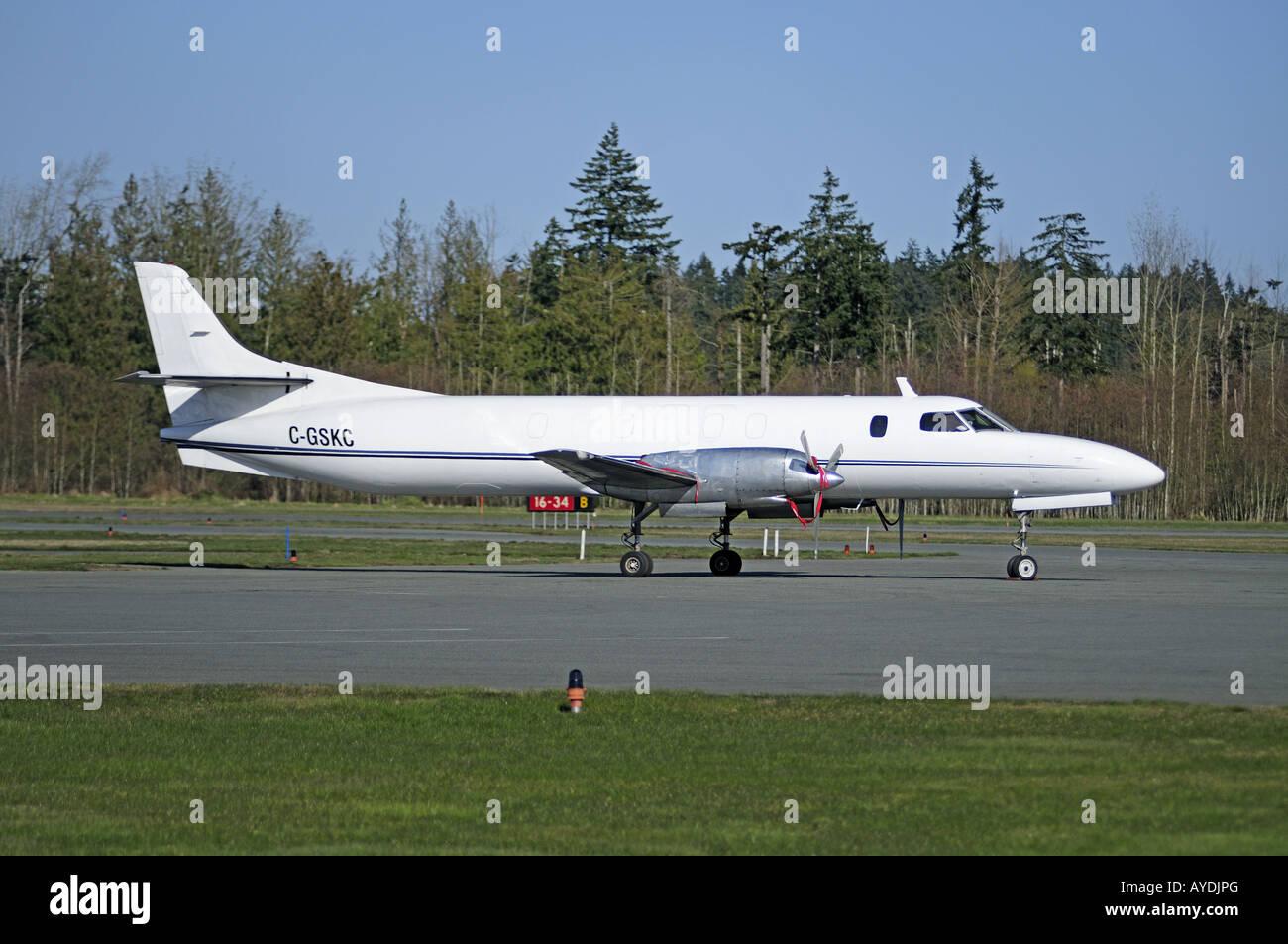 Swearingen SA226-TC Metro at Nanaimo Airfield BC Vancouver Island Canada - Stock Image