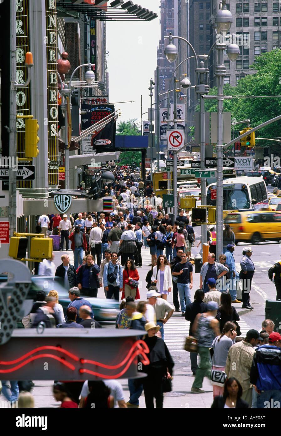 42nd Street, New York City - Stock Image