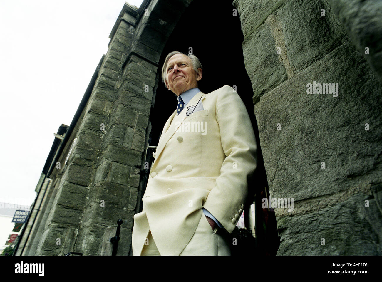 Author Tom Wolfe at the Hay literary festival in Hay on Wye Herefordshire UK on 7 June 1999 - Stock Image