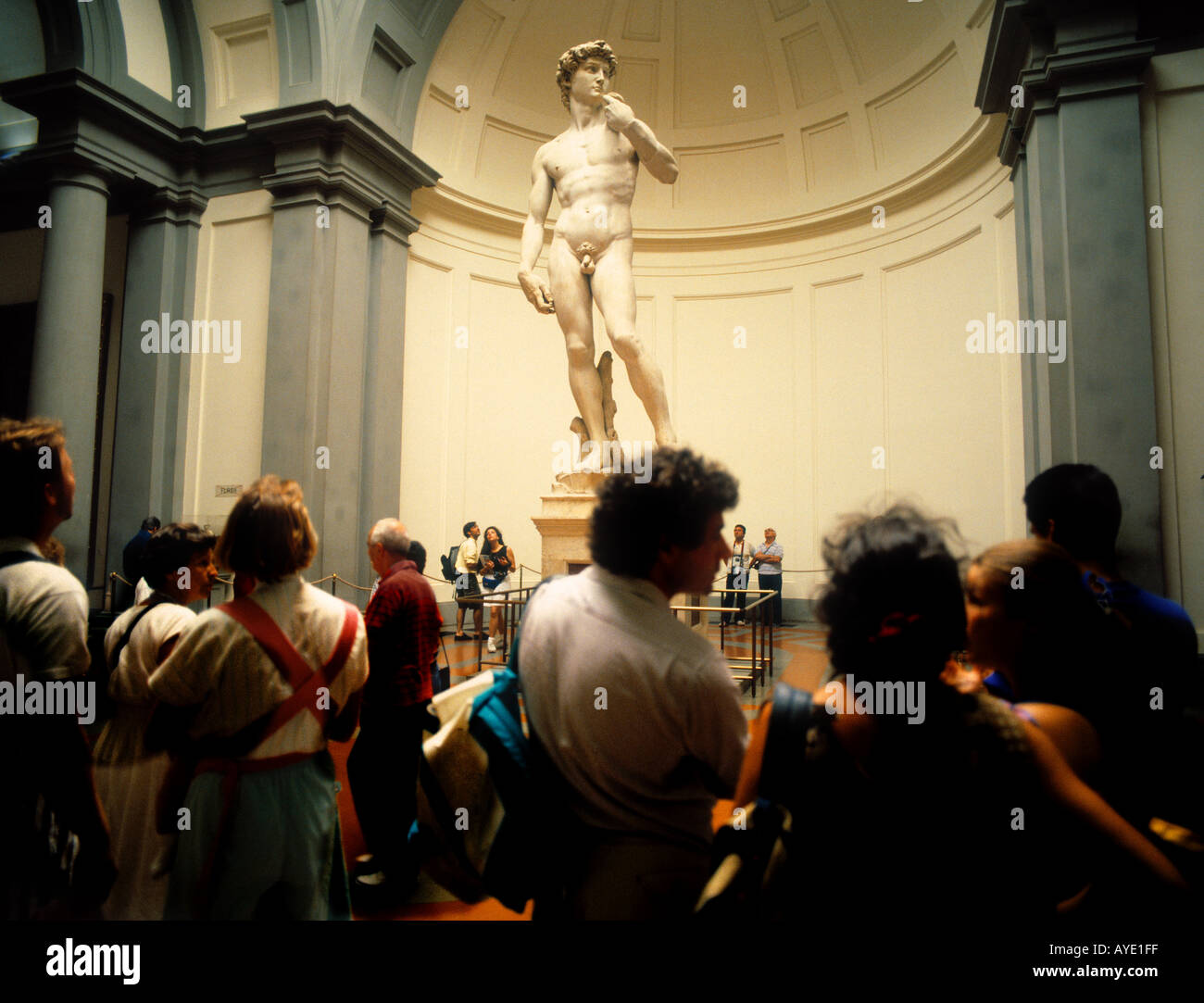Florence Italy David by Michelangelo in Galleria dell Accademia Stock Photo