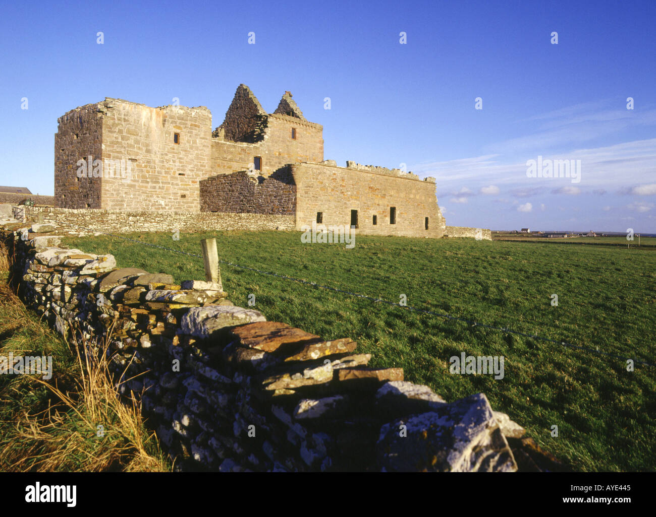 dh Noltland Castle WESTRAY ORKNEY Ruined Historic Scotland castle built by Gilbert Balfour Stock Photo