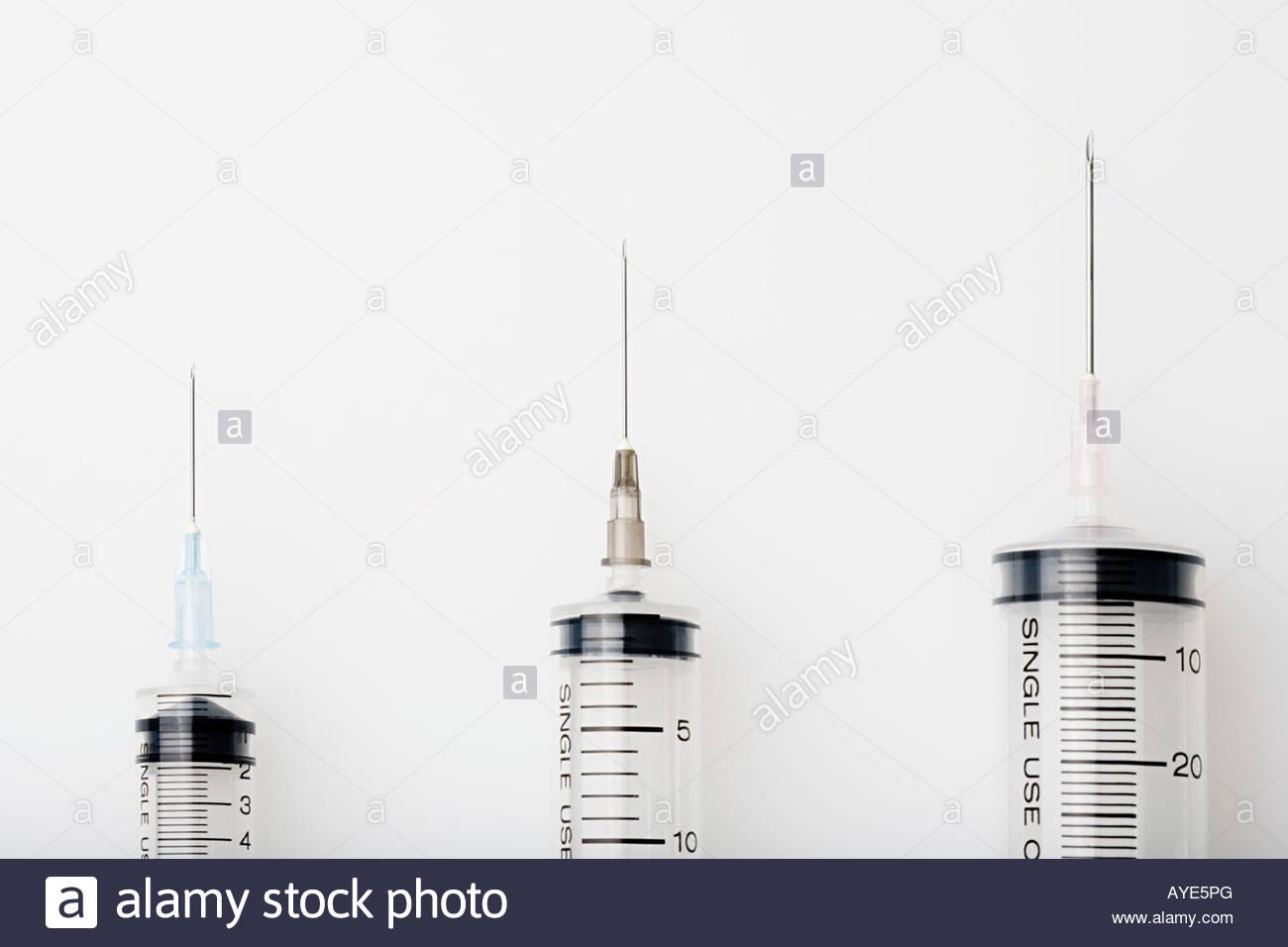 Three syringes - Stock Image