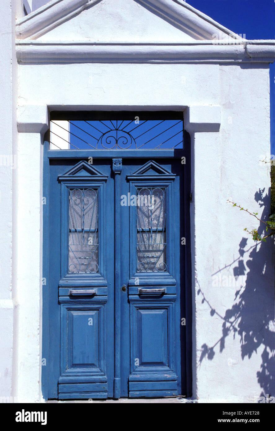 Vernacular architecture on Karpathos Greece Stock Photo