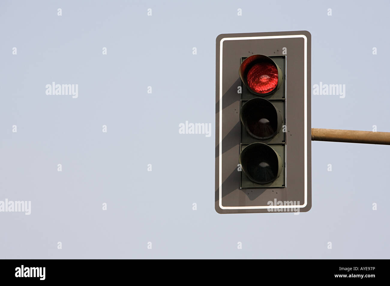 Traffic light on red - Stock Image