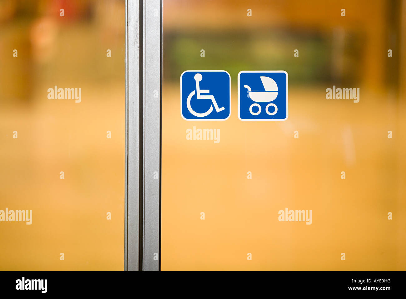 Signs on a door - Stock Image
