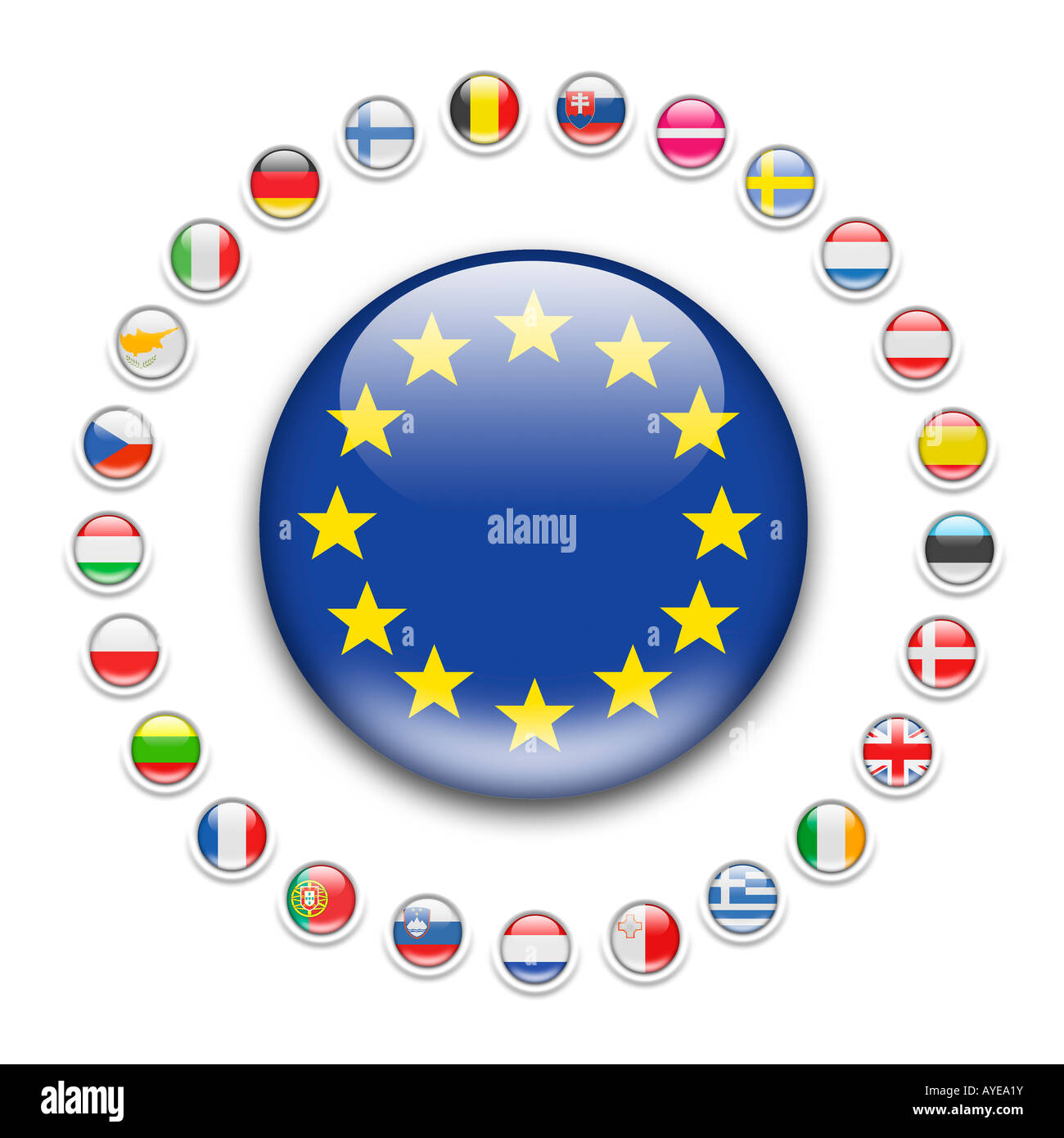 EU - European Union flag - Stock Image