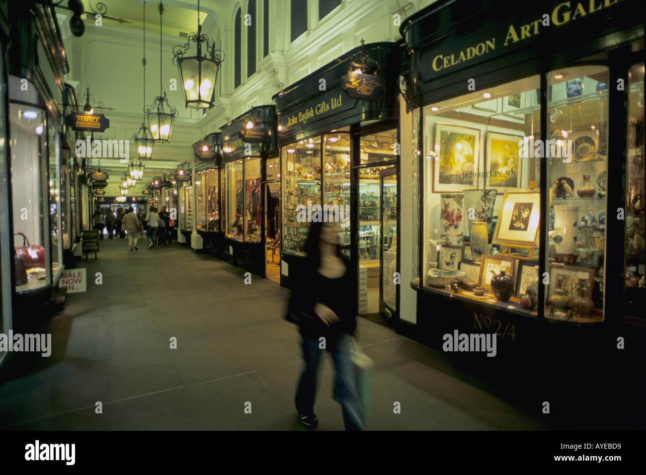 UK England London Picadilly shopping arcade - Stock Image