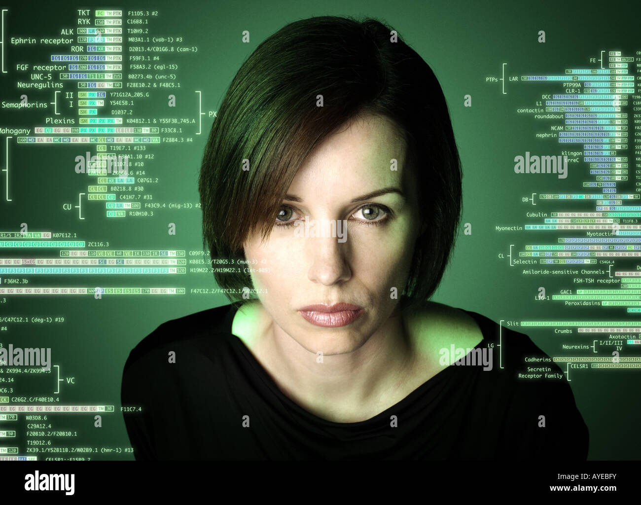 Woman and science - Stock Image