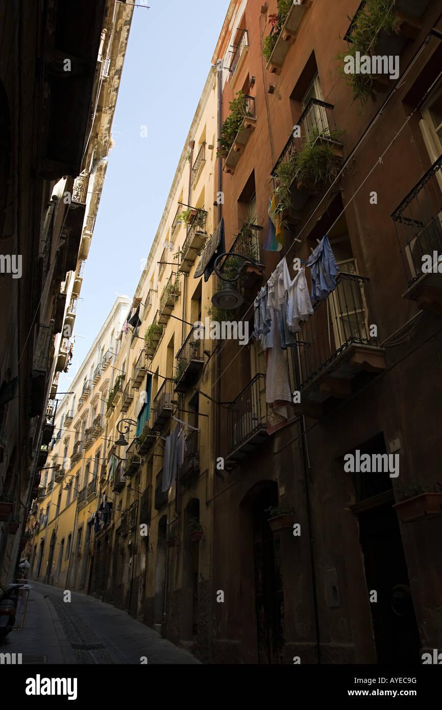 A street in cagliari - Stock Image