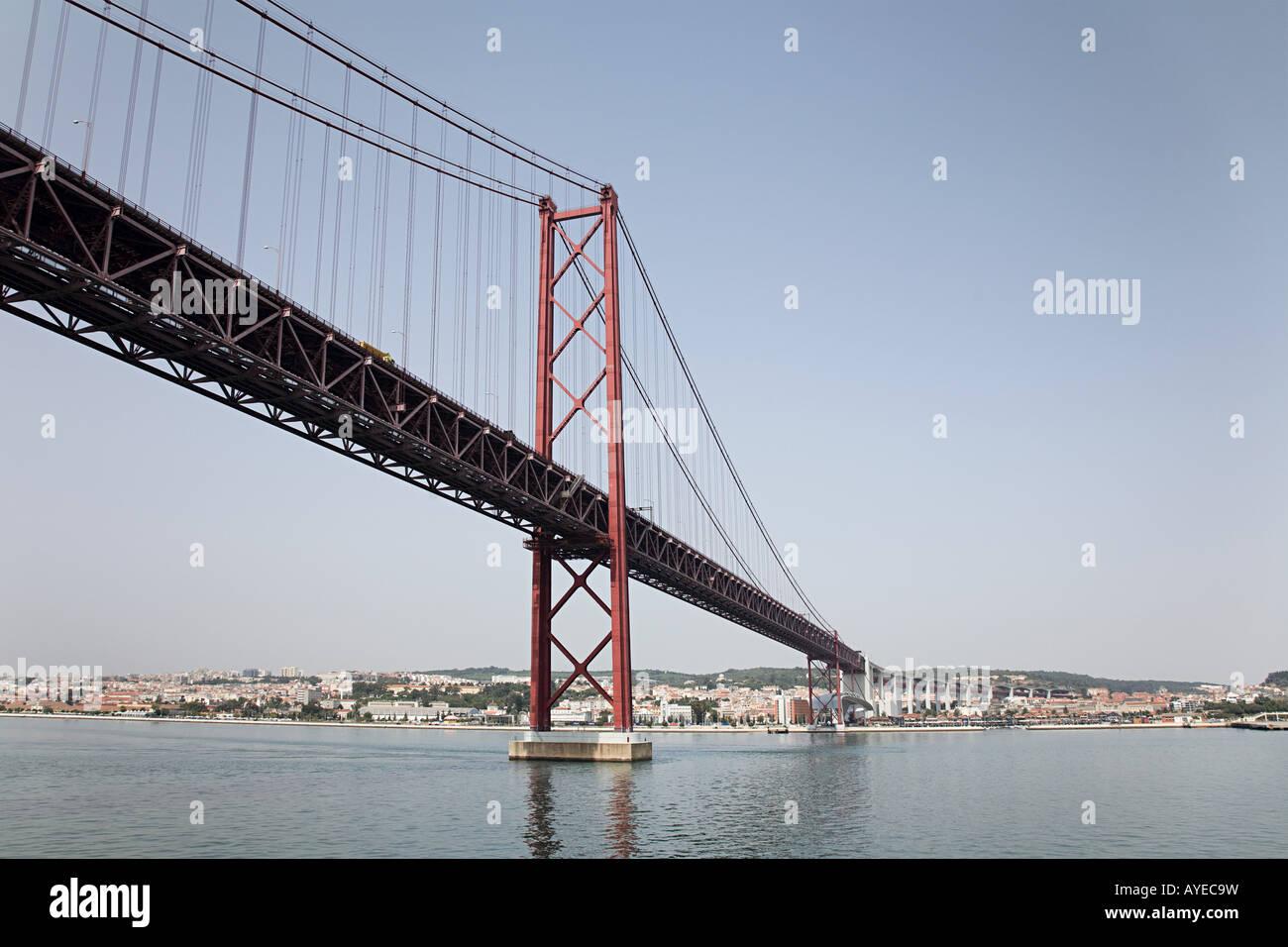 Vasco de gama bridge lisbon portugal - Stock Image