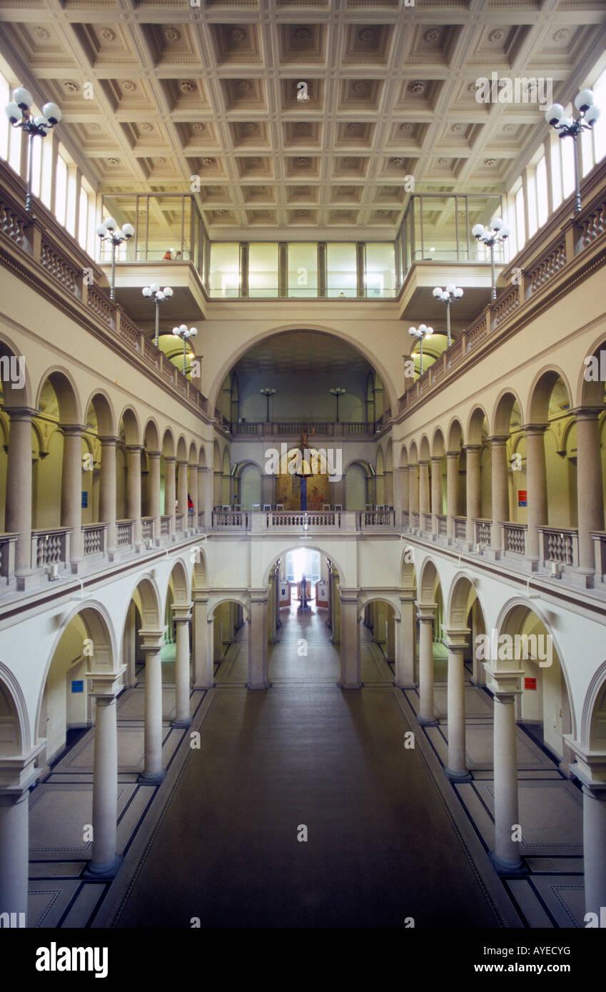Interior view of Eidgenoessische Technische Hochschule university building in Zurich Switzerland - Stock Image