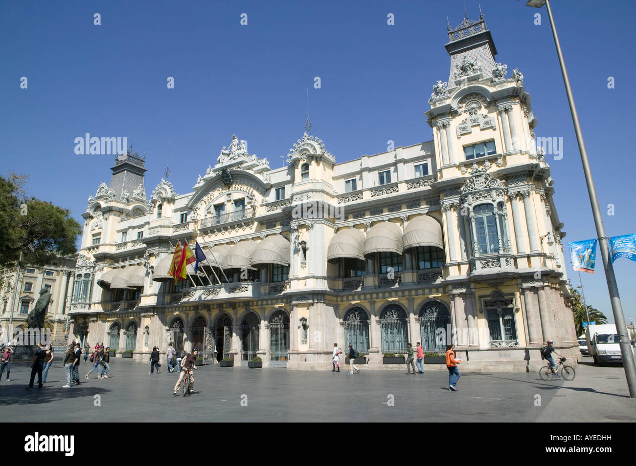 Barcelona, Spain, art, arquitecture, port, puerto, Olympic, Port, Barcelona, Province, Spain, Europe, color, photography, - Stock Image