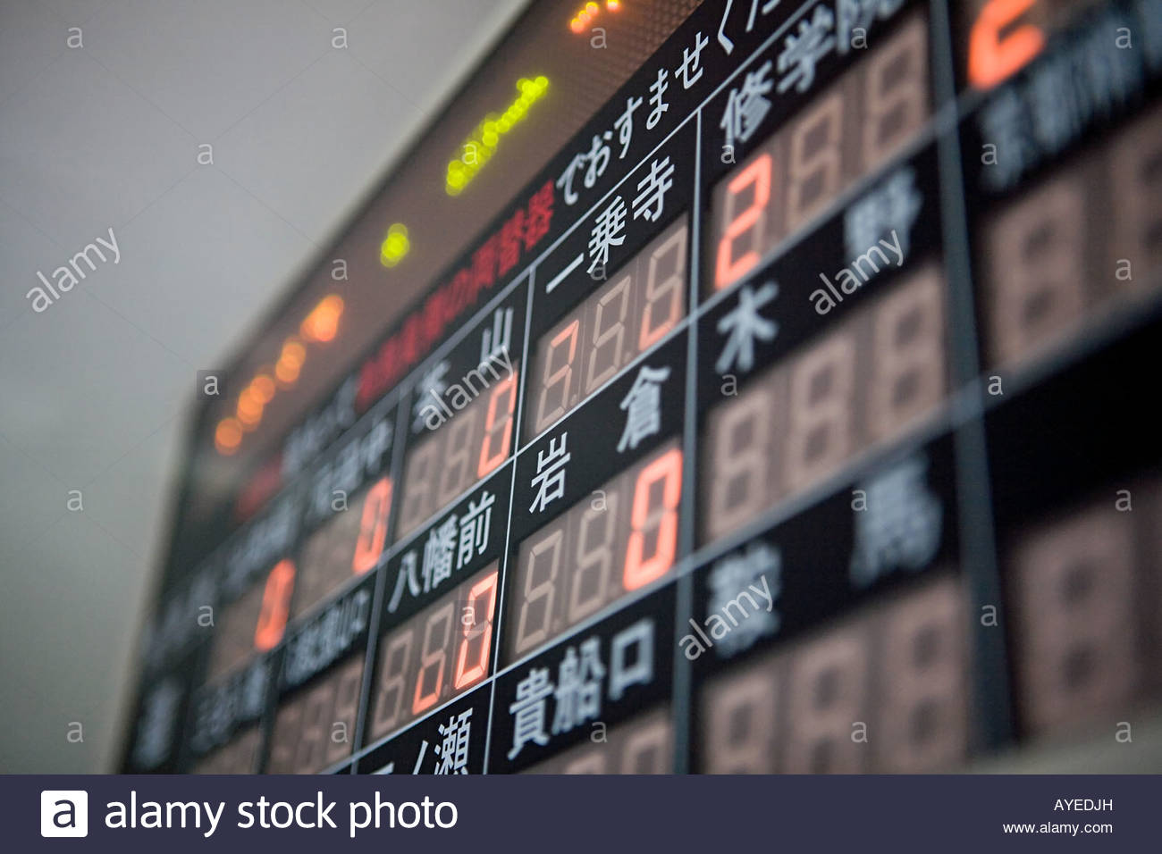 Price display board on a train - Stock Image