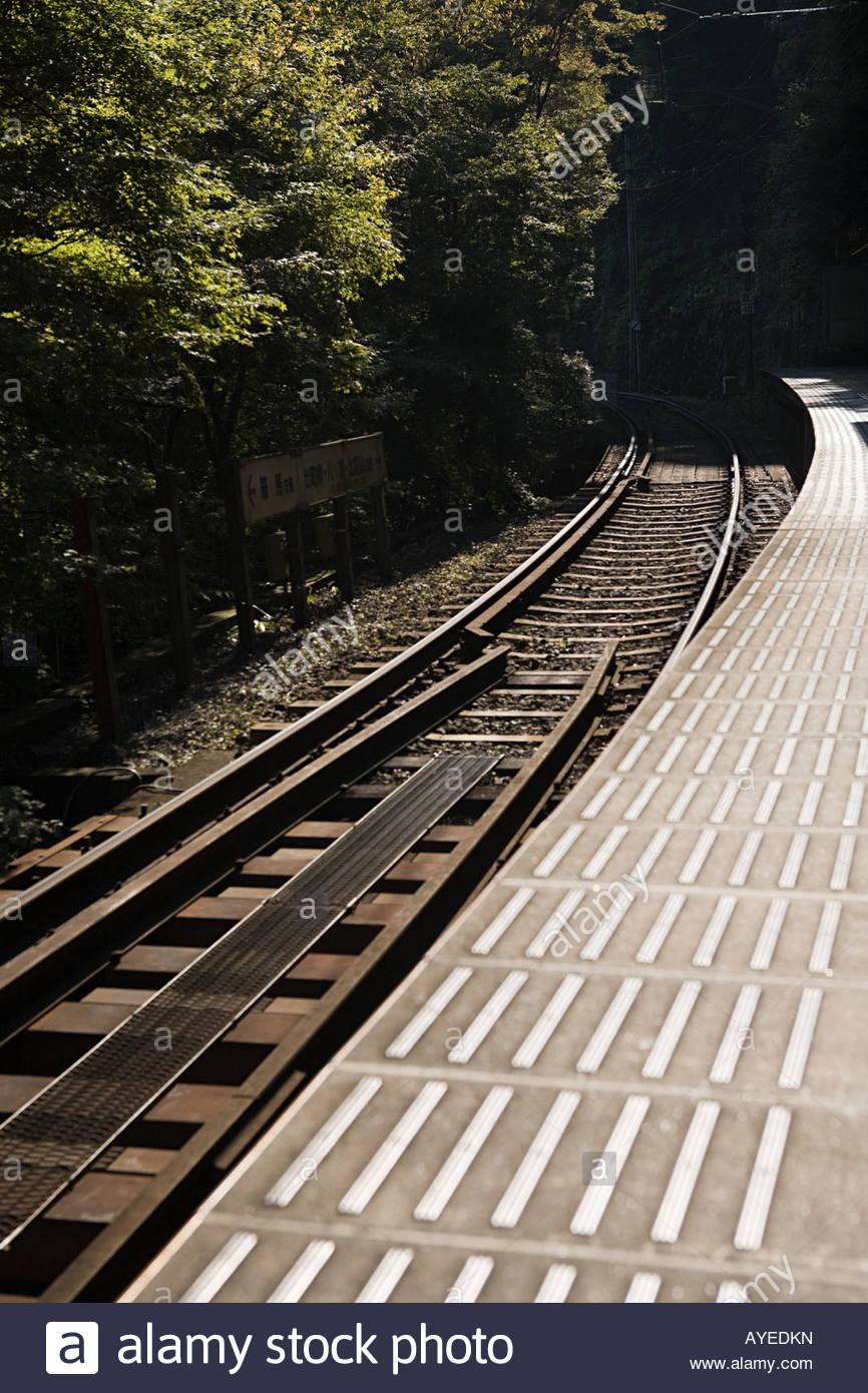 Railway platform - Stock Image