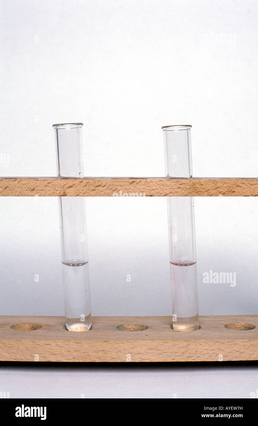Magnesium sulphate & barium nitrate before mixing - Stock Image