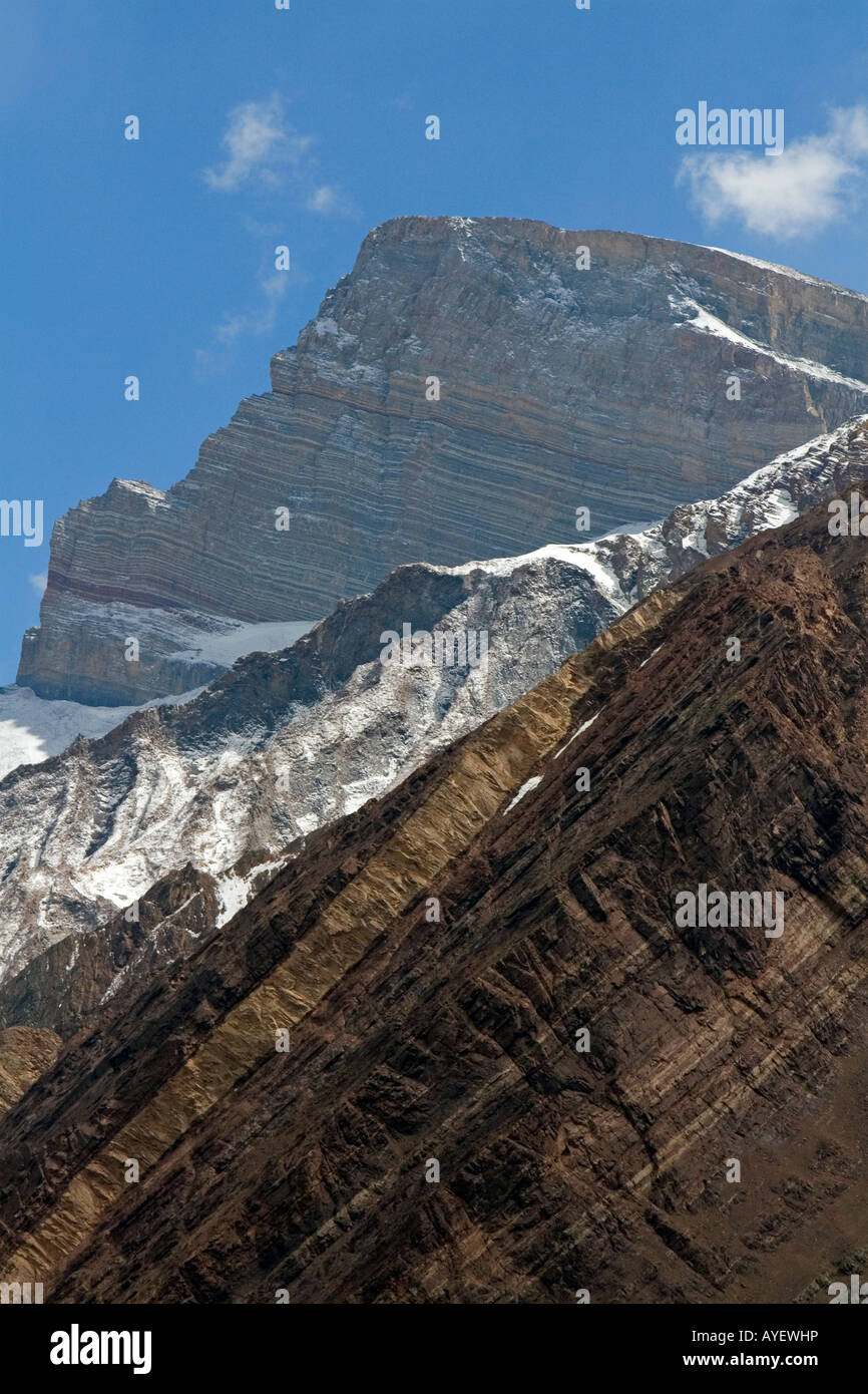 Mount Aconcagua in the Andes Mountain Range Argentina - Stock Image