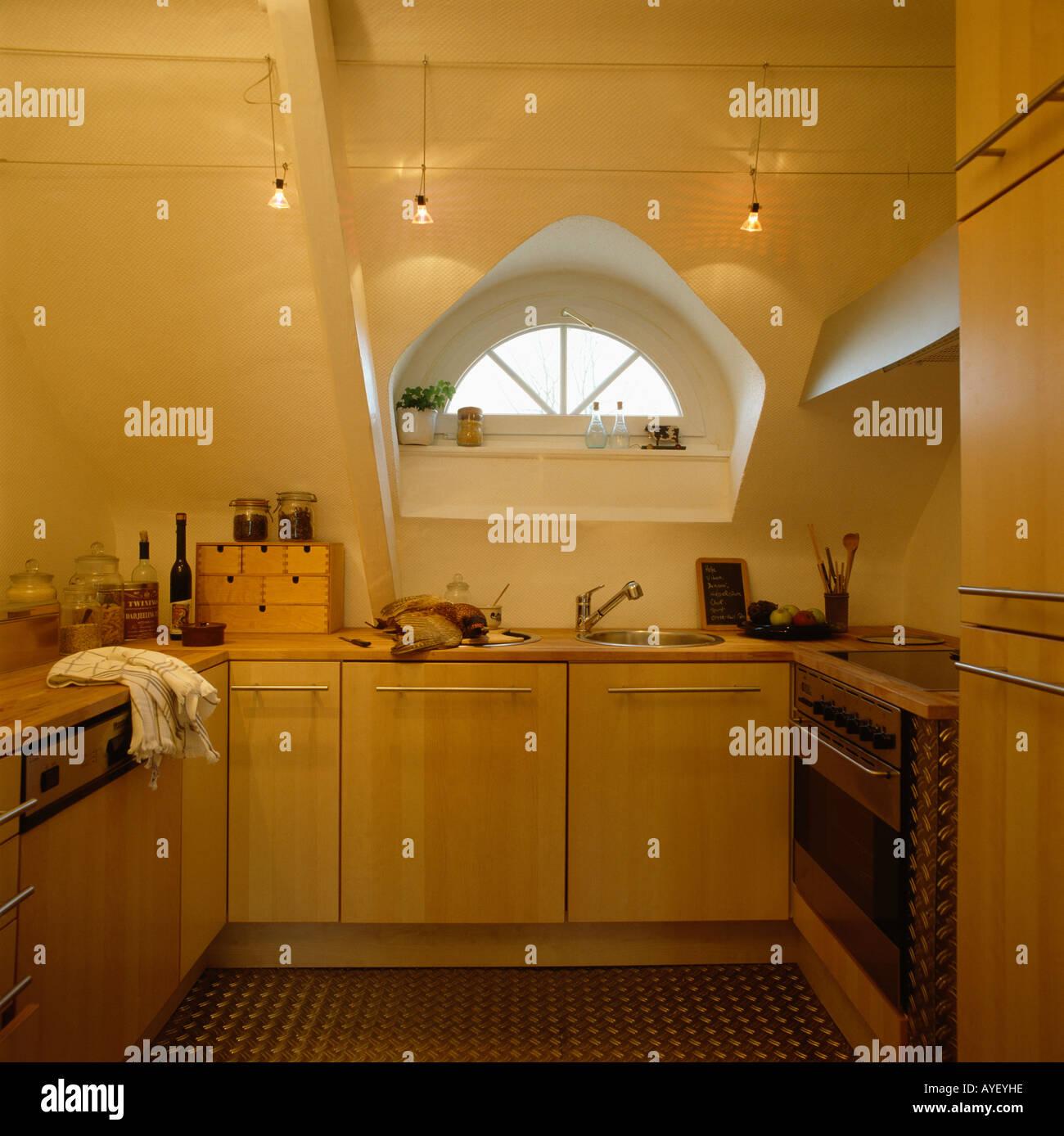 Small Attic Conversion Kitchen