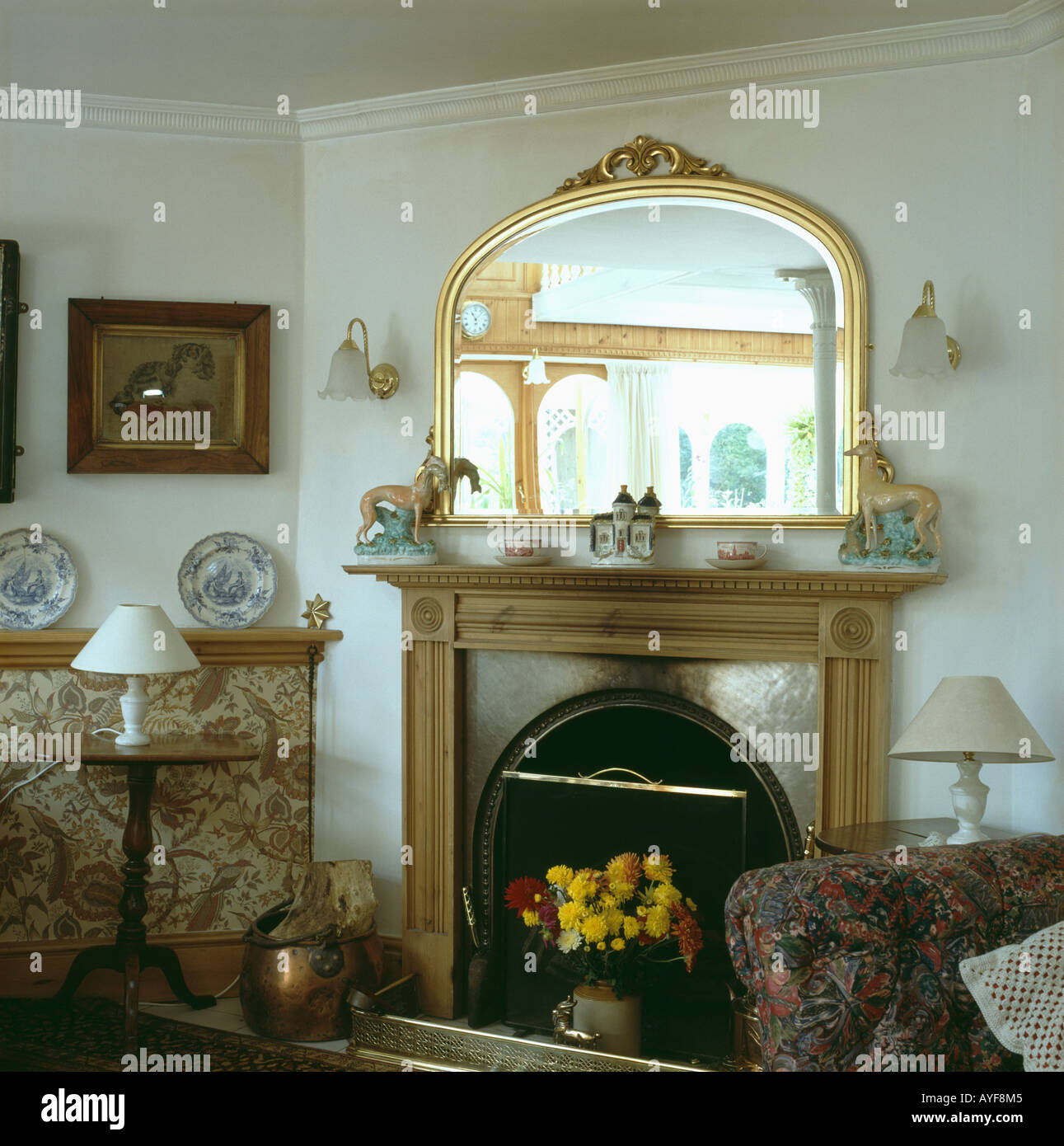 and angeles mirrors plants traditional fireplace artificial with dishy over los trees