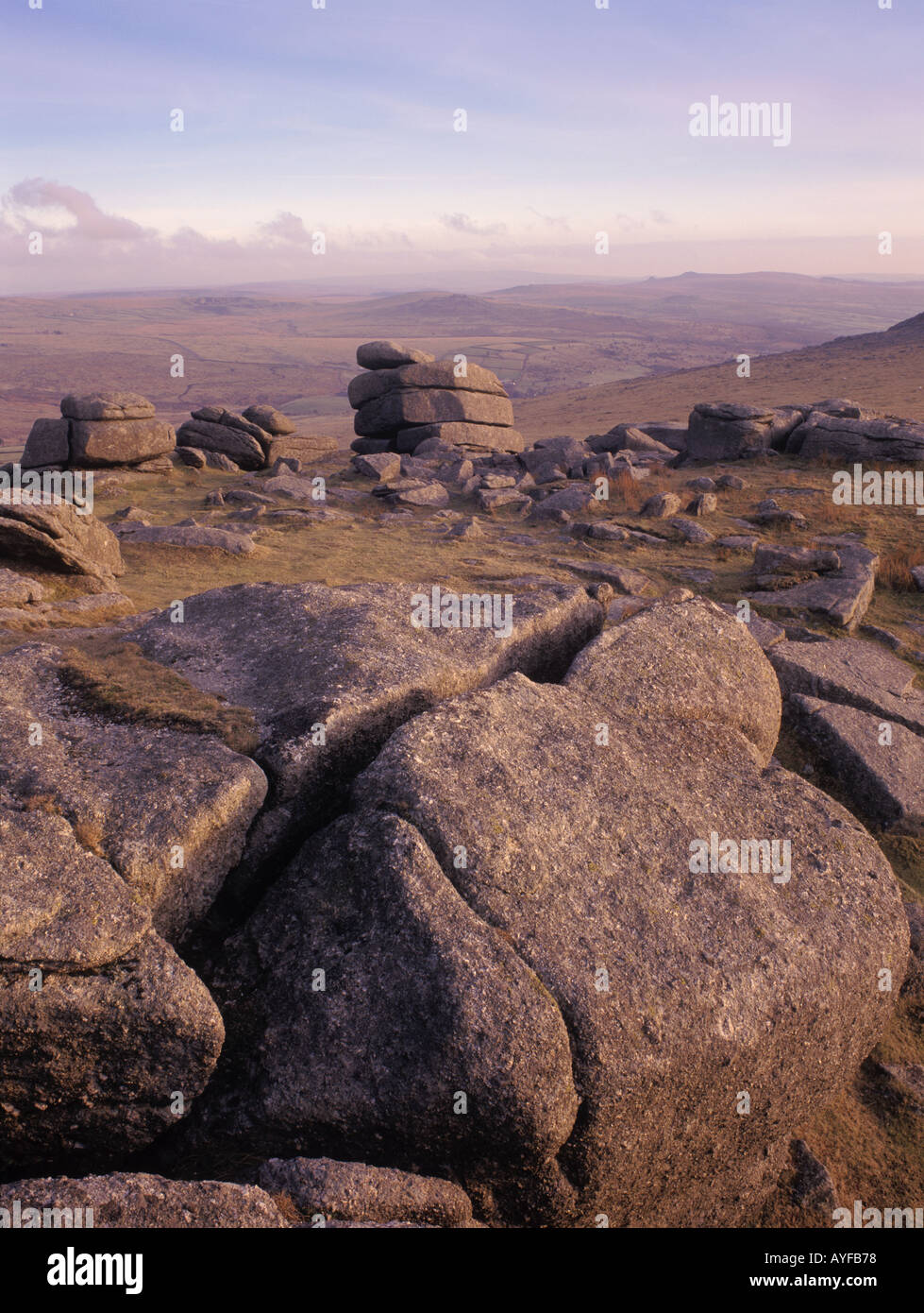 Roos Tor Dartmoor England UK Stock Photo