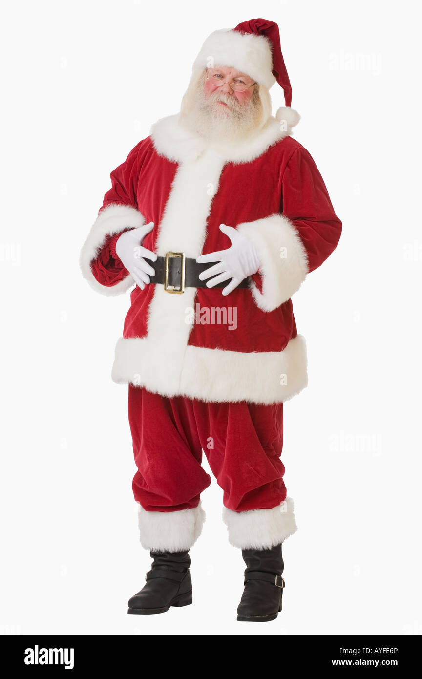 Santa Claus with hands on belly - Stock Image
