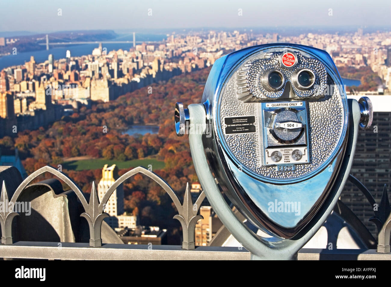 stationary viewer and Central Park, New York City - Stock Image