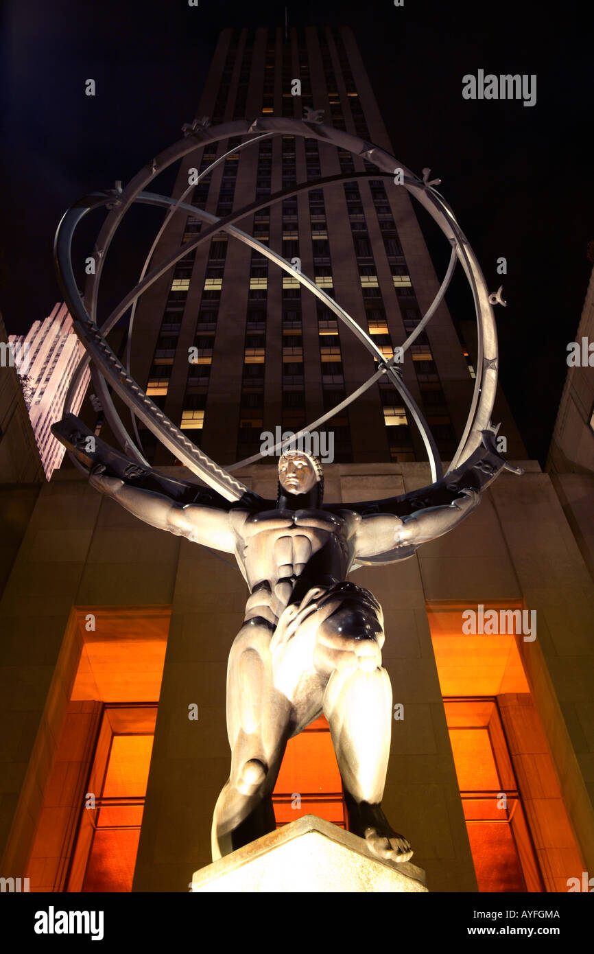Atlas Statue, New York City - Stock Image
