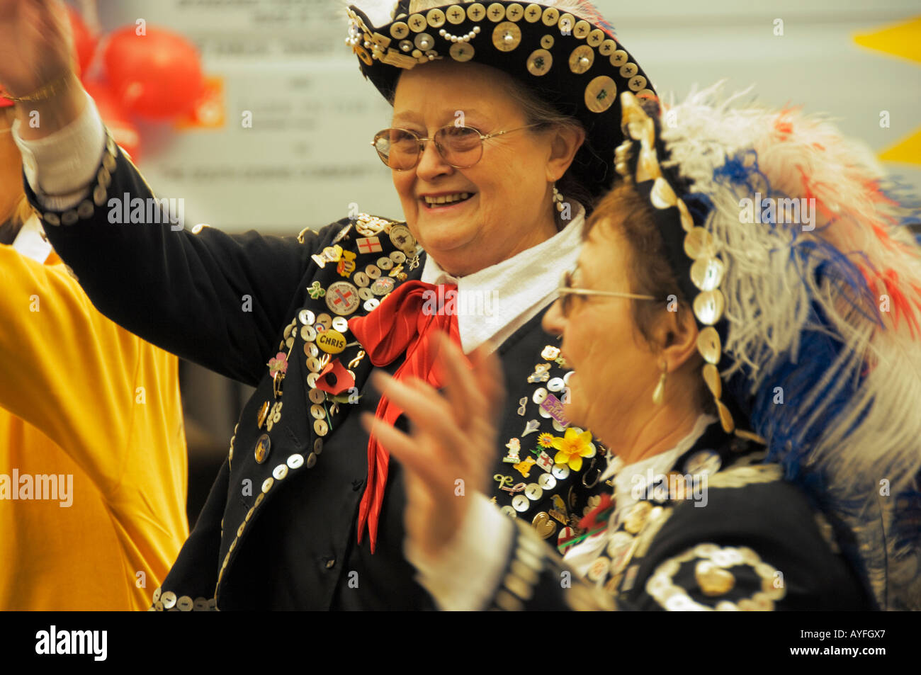 Pearly Queens at the Lord Mayors Show in the City of London, November 2006 - Stock Image