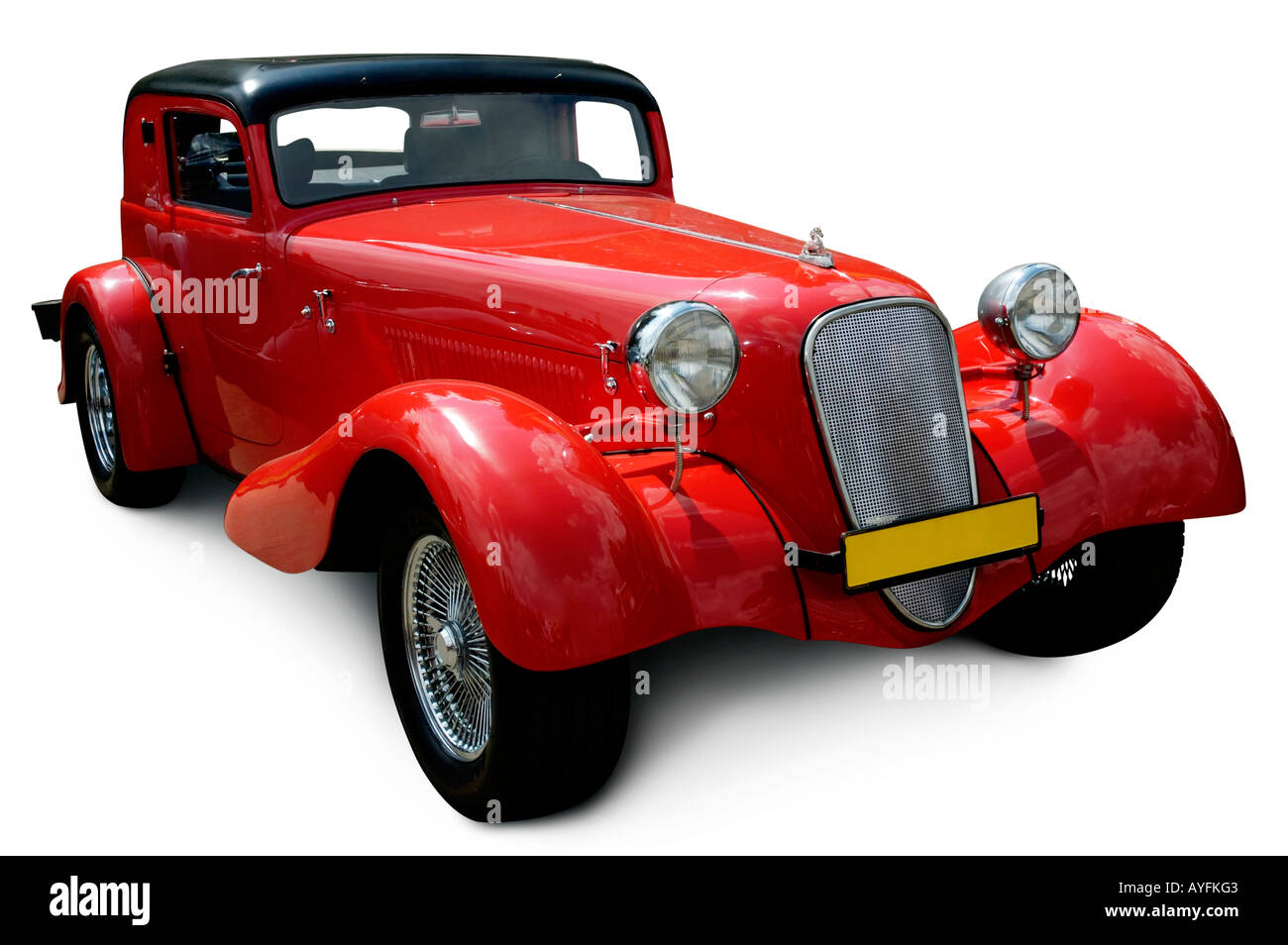Classic Red DKW retro vintage car - Stock Image