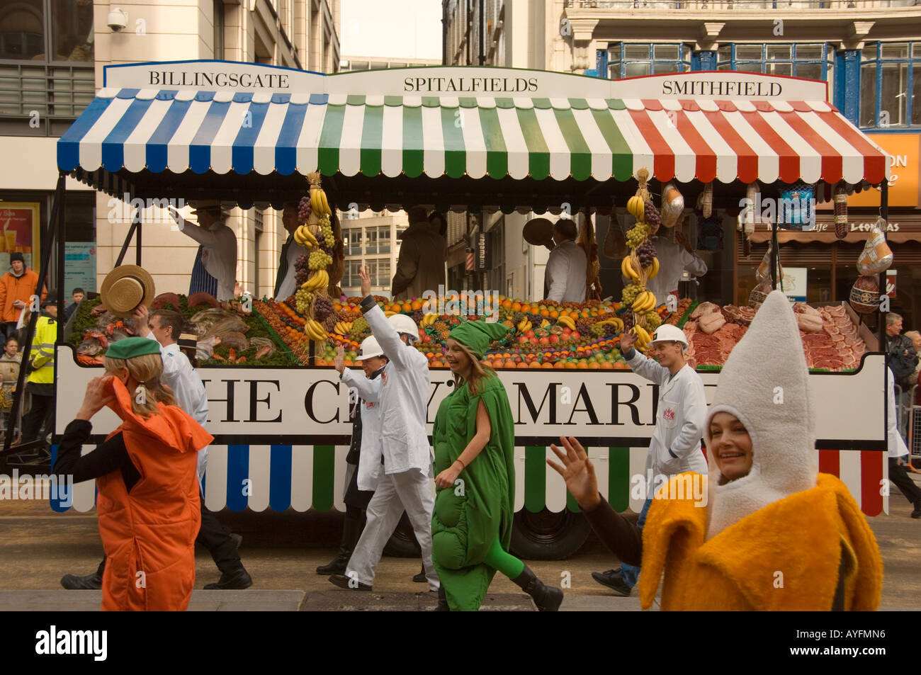 The City Markets in the procession at the Lord Mayors Show in the City of London November 2006 - Stock Image