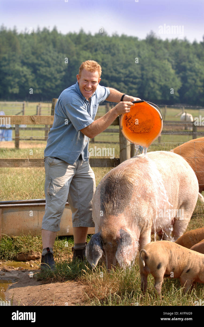 COUNTRYFILE TV PRESENTER AND OWNER OF THE COTSWOLD FARM PARK ADAM HENSON - Stock Image