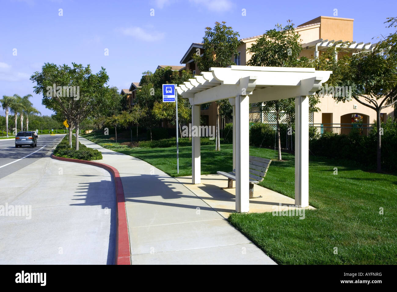 Bus stop, Carlsbad, San Diego, California,USA,America,west coast - Stock Image